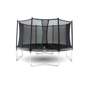 BERG Favorit Trampoline 430cm med Sikkerhetsnett - Grå