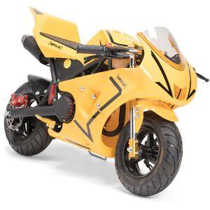 Impulse Motorsykkel Pocket Bike 49CC, Gul/Svart