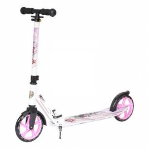 bikestar STAR-SCOOTER® XXL City Sparkcykel 205mm vit/lila
