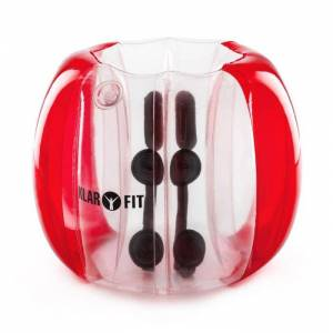 KLARFIT Bubball KR Bubble Ball Uppblåsbar Fotboll barn 75x110cm EN71P PVC röd