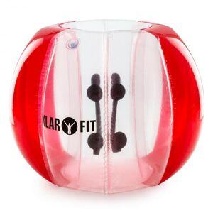 KLARFIT Bubball KR Bubble Ball Uppblåsbar Fotboll Vuxen 120x150cm EN71P PVC röd