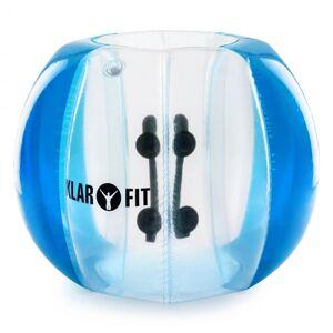 KLARFIT Bubball KR Bubble Ball Uppblåsbar Fotboll Vuxen 120x150cm EN71P PVC Blå