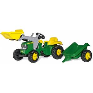 Rolly Toys Tramptraktor med Lastare och Släp John Deere
