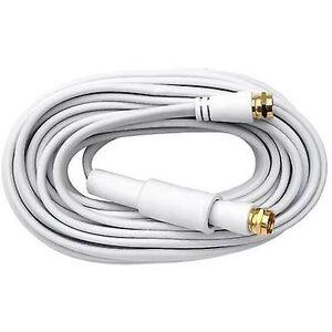 Axing Antenner, SAT-kabel [1x F plugg - 1x F plugg] 10,00 m 75 dB gullbelagte kontakter Hvit