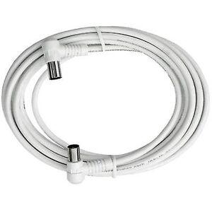 Axing antenner kabel [1 x Belling-Lee/IEC plug 75 ω - 1 x Belling-Lee/IEC socket 75 ω] 2,50 m 85 dB hvit