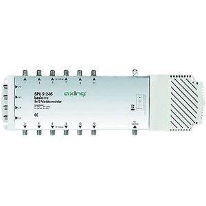 Axing SPU 512-05 SAT multiswitch innganger (multiswitches): 5 (4 SAT/1 terrestrial) nr. deltakere: 12 Quad LNB kompatibel