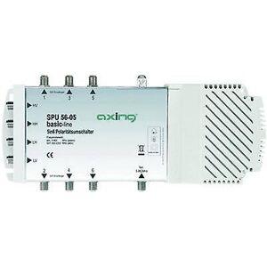 Axing SPU 56-05 SAT multiswitch innganger (multiswitches): 5 (4 SAT/1 terrestrial) nr. deltakere: 6 Quad LNB kompatibel