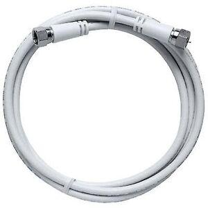 Axing LØR kabel [1 x F plug - 1 x F koble] 3,50 m 85 dB hvit