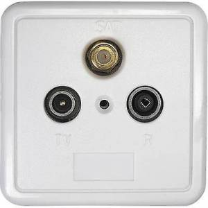 Axing SSD 2-10 antenne socket satt, TV Flush mount ikke slutter