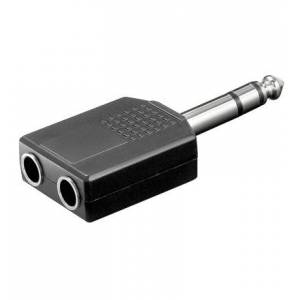 ljud adapter 6,35mm stereo Jack - 2x 6,35mm stereo Jack