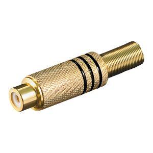 RCA kontakt (uterminert) - , , böjbar kabelskydd