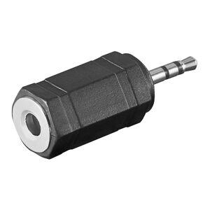 ljud adapter 2,5mm stereo kontakt - 3,5mm stereo jack