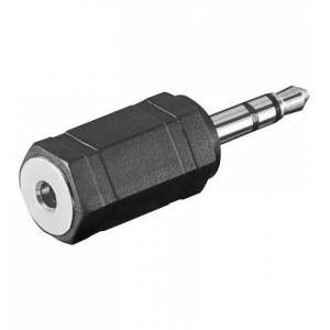 ljud adapter 3,5mm stereo kontakt - 2,5mm stereo jack