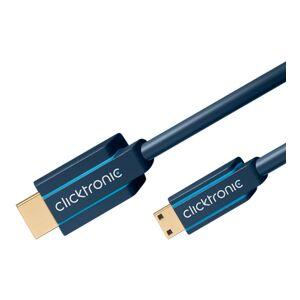 ClickTronic 1m HDMI till mini HDMI kabel