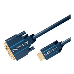 ClickTronic 5m DVI till HDMI kabel