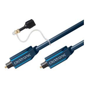 ClickTronic 10m Toslink (Optisk) kabel med 3,5mm kabel