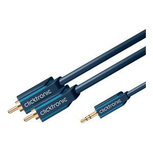 ClickTronic 20m 3,5mm Minijack till 2xRCA ljudkabel