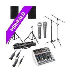 Power Dynamics PD412A - inkl. mixer & mikrofoner TILBUD NU