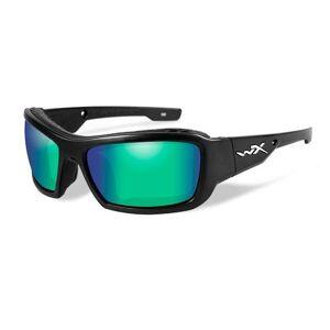 Wiley X Knife Polished Emerald Mirror Amber-Matte Black Frame solbriller