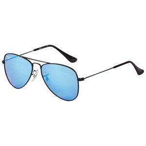 Ray-ban Aviator Junior Sunglasses Black/Blue Mirror