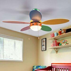 Lindby Multifarvet loftventilator Corinna med lys