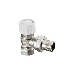 CSDK-SL 3/8 termostat ventil vinkel type AV9 med M30 følertilslutning. Til centralvarme og fjernvarme med 9 forindstillings muligheder