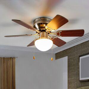 Lindby Flavio - lysende loftventilator med 6 vinger