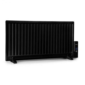 OneConcept Wallander öljylämmitin 1000 W termostaatti erittäin litteä musta