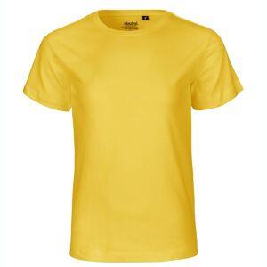 Neutral Økologisk Børne T-Shirts-Gul-128/134
