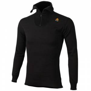 Aclima HotWool Polo with Zip Man Sort Sort XXL