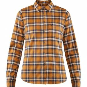 Fjällräven Women's Övik Flannel Shirt Orange Orange S