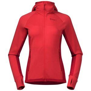 Bergans Cecilie Wool Hood Jacket Women's Rød Rød XS