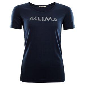 Aclima LightWool T-shirt Logo Women Blå Blå L