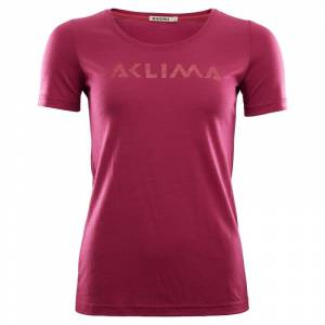 Aclima LightWool T-shirt Logo Women Pink Pink S