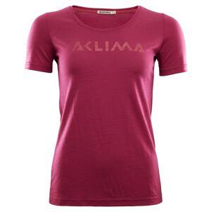 Aclima LightWool T-shirt Logo Women Pink Pink XS