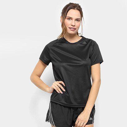 Camiseta Adidas D2M Lose Feminina - Feminino-Preto