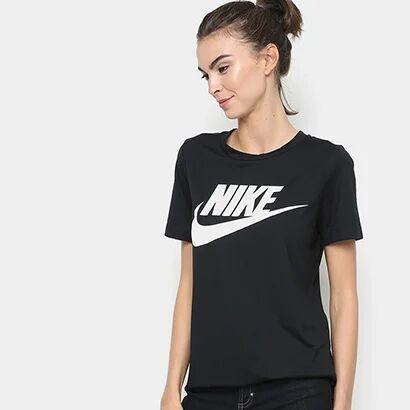 Camiseta Nike Essential Feminina - Feminino-Preto+Branco