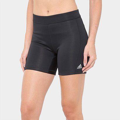 Short Adidas Techfit 5In Feminino - Feminino-Preto