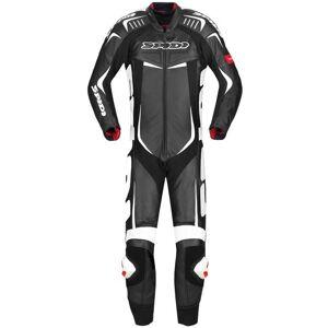 Spidi Track Wind Pro Yksiosainen moottoripyörä nahka puku  - Musta Valkoinen - Size: 58