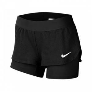 Nike Court Flex Shorts Girls Black 140