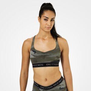 Better Bodies Athlete Short Top, Green Camoprint, L