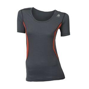 Aclima Lightwool dame t-skjorte rund hals Irongate Poinciana