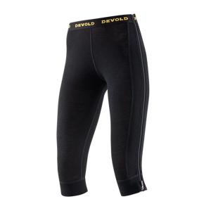 Devold Wool Mesh dame Zip-Off Capri black
