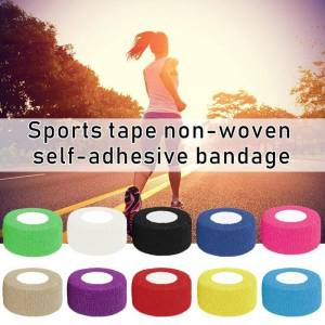 Elastic Cotton Roll Adhesive Tape 5cm*5cm Sports Muscle Tape Bandage Care Kinesiology First Aid Tape Muscle Injury Support