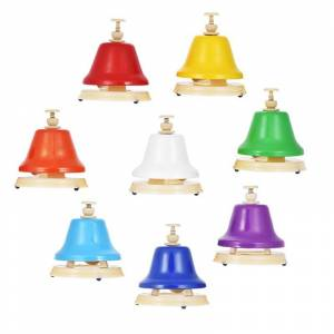 Colorful 8 Note Hand Bell Set Musical Educational Instrument Toy for Children Kids Student