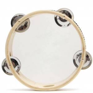 6 Inch Hand Held Tambourine Drum Bell Metal Jingles Musical Toy Percussion