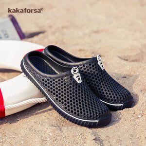 Kakaforsa 2019 Women men Outdoor Sandals Mesh Breathable Unisex Casual Beach Shoes Hollow Flats waterproof Sandal for Lovers