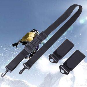 Hand-held Nylon Skiing Strap Adjustable Snowboard Ski Shoulder Strap Skiing Handle Strap Bags Skiing Accessories