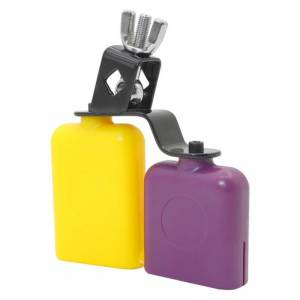Orange & Purple Cow Bell Wooden Fish Cattle Bell For Cheers Sport Games Wedding Cow Bell Drums Percussion Instruments