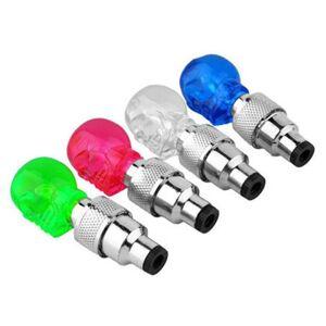 Bicycle Lights Bike Tire Valve Lgiht Tyre Tire Valve Caps Wheel Spoke Skull Diamond Shape LED Light MTB Bike Cycling Accessories